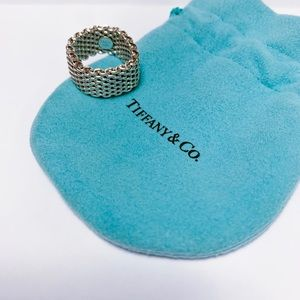 TIFFANY & CO   Somerset Mesh Sterling Silver Ring